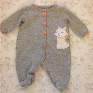 Carter's Gray Snap Footie Pajamas